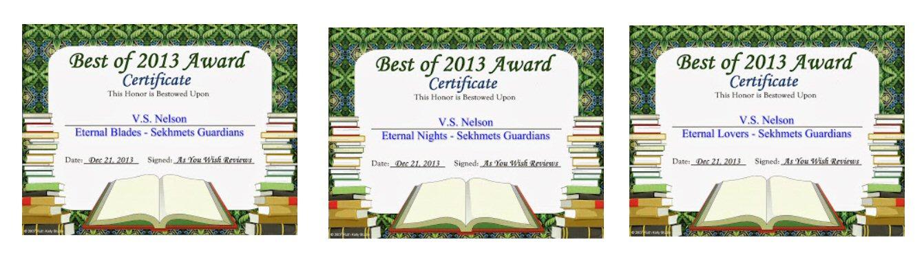 VS Nelsontop ten awards